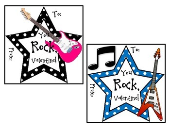 'You Rock' Valentine's Day Cards
