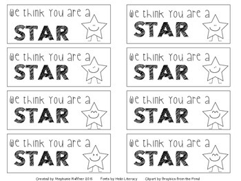 You are a STAR - Starburst Gift Tag