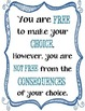 """{FREEBIE} """"You are free to make your choice""""/ Inspiration"""