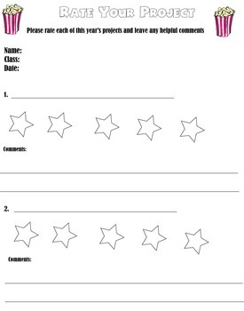 You be the Art Critic Worksheet for Elementary Art Students