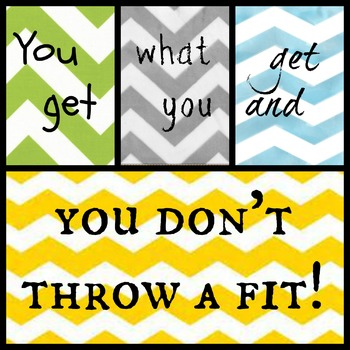 You get what you get and you don't throw a fit! collage 2