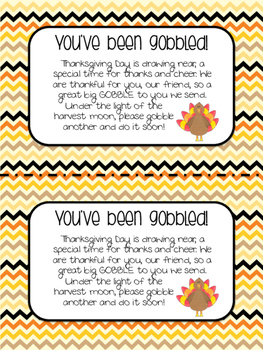 You've Been Gobbled! Labels