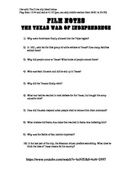 YouTube Movie Guide - Texas War of Independence