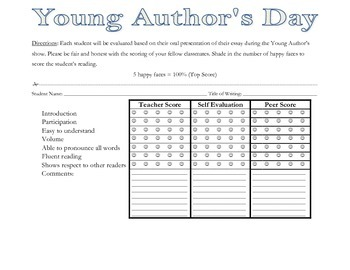 Young Author's Day Activity