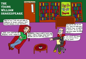 Young Renaissance Thinkers - William Shakespeare Cartoon