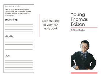 Young Thomas Edison Foldable- LAFS Aligned
