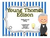 Young Thomas Edison Journal Booklet  3rd Grade  Journeys