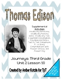 Young Thomas Edison Supplemental Activities 3rd Grade Jour