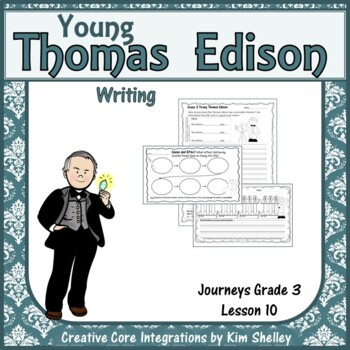 Young Thomas Edison Writing
