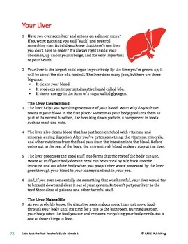 Your Liver - Informational Text Test Prep