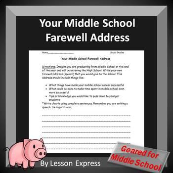 Your Middle School Farewell Address (George Washington's F