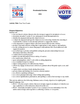 Your Vote Counts - Presidential Election Research & Debate Unit