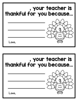 Your teacher is thankful for you because...(student certificates)