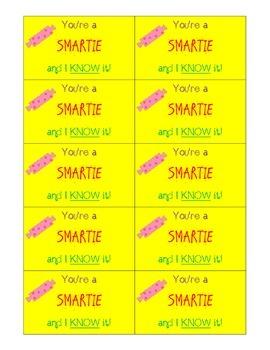 You're A Smartie Motivation Cards