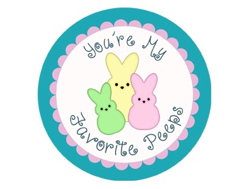 You're My Favorite Peeps... Student Gift Tags