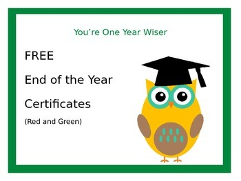 End of the Year -You're One Year Wiser Primary Graduation