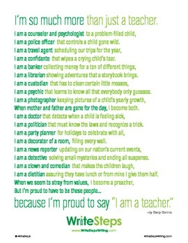 You're So Much More than a Teacher Classroom Poster