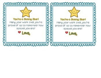 You're a Shining Star {Editable Student Gift Tag}