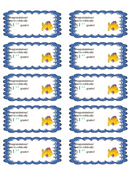 You're o-fish-ally a first grader free labels