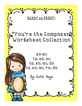"""""""You're the Composer"""" Worksheet Collection"""