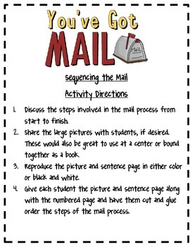 You've Got Mail~Sequencing the Mail Acitivity