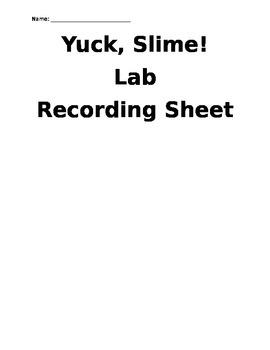Yuck, Slime! Lab