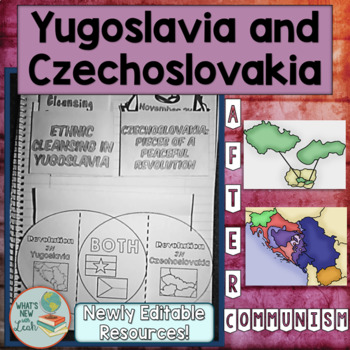 Yugoslavia and Czechoslovakia After Communism Foldable Activities
