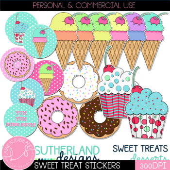 Yum Yum Bubblegum Sweet Treats Clip Art Collection