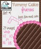 Yummy Round Cake Fractions: Digital Clipart