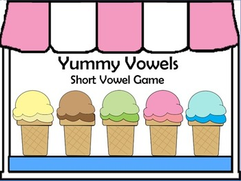 Yummy Vowels Printable Game - Short Vowel Sounds