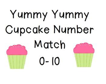 Yummy Yummy Cupcake Number Match