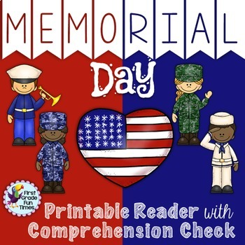Reader and Comprehension Memorial Day Activities