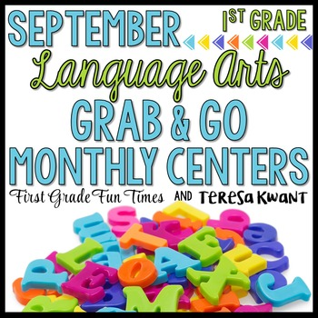 Literacy Centers First Grade Back to School Activities