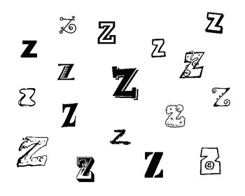 Fun Fonts for Articulation: Z