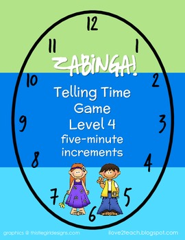 ZABINGA Game Telling Time to 5-Minute Increments Level 4