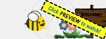 ZING Banners! Animated TpT Banner: Buzzing Bee! {Animated