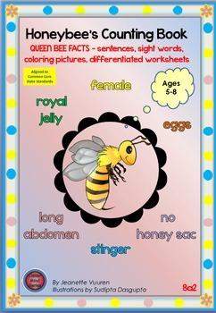 ZIP 8a-c2: HONEY BEE FACTS - QUEEN, DRONE, WORKER - colori