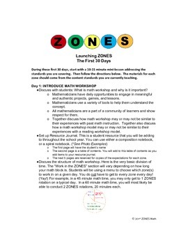 Guided Math Workshop: First 30 Days Complete Lesson Plans