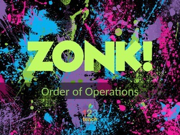 Order of Operations ZONK! Review Game