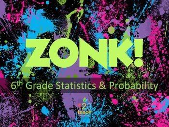 ZONK! 6th Grade Common Core Math Review Game - Statistics