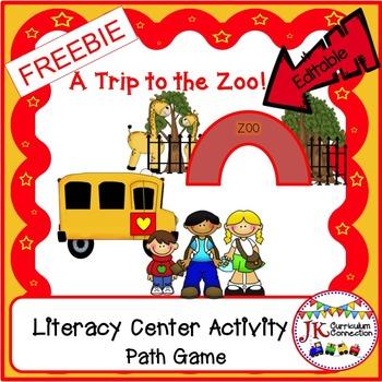 ZOO - A Trip to the Zoo Path Game FREEBIE!