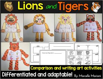 ZOO Animals-ZOO ART WRITING-DRAWING CRAFTS- LION & TIGER