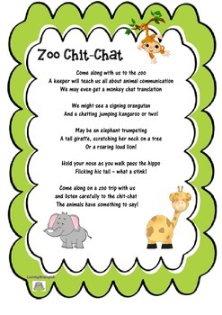 ZOO CHIT-CHAT - original poem