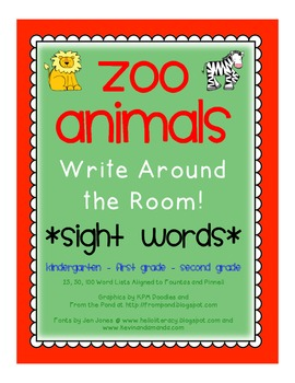 *ZOO* Read/Write Around the Room Literacy Center