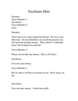 Zaccheaus Religion Skit