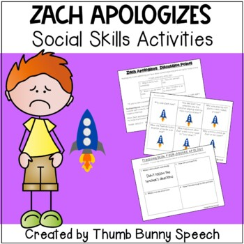 Zach Apologizes:  Social Skills Activities