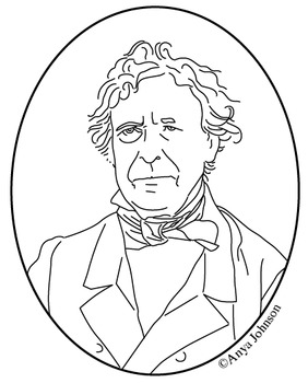 Zachary Taylor (12th President) Clip Art, Coloring Page or