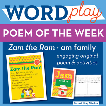 Zam the Ram - am Word Family Poem of the Week
