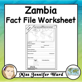 Zambia Fact File Worksheet