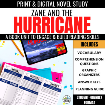 Zane & the Hurricane Foldable Novel Study